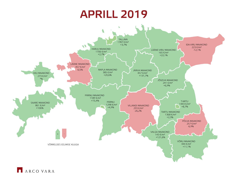 f0639ee4754 Eesti kinnisvaraturu aprillikuu lühiülevaade